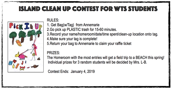 Island Clean Up Contest