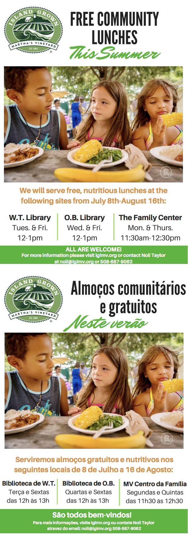 FREE Community Lunches