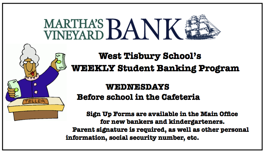 Wednesday is Banking Day!