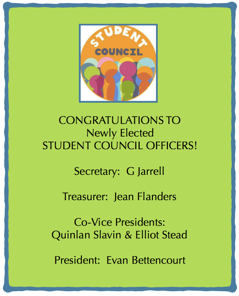 CONGRATS Student Council Winners!