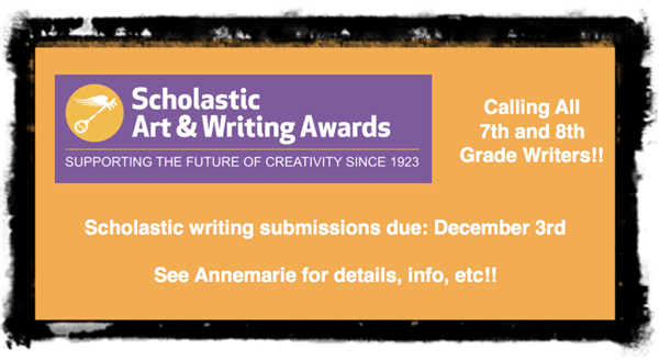 7th & 8th Grade Writers!!